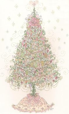 this pink christmas tree would make a cute christmas card