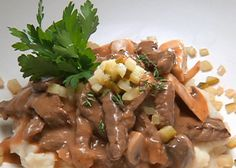 Big Top Beef Stroganoff recipe from Robert Irvine via Food Network