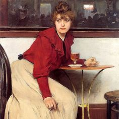 """""""Madeleine"""" (1892) by Ramon Casas Oil on Canvas 117 x 90 cm Museu de Montserrat. Modern art in Barcelona originated with Modernisme a broad Catalan cultural movement that emerged in the 1880s and lasted into the 1910s. During this period progressive artists and intellectuals in Barcelona opened up to foreign influences and embraced radical new ideas and art forms especially contemporary French art. Ramon Casas and Santiago Rusiñol the key founders of Modernista Catalan painting turned to…"""
