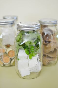 Crafty Mason Jar Gifts- hand made soap, made with herbs and essential oils