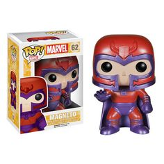 This X-Men Classic Magneto Pop! Vinyl figure by Funko has him suited up in a purple and red costume, and stands about 3 3/4-inches tall. Magneto first debuted in X-Men in 1963, with the rest of the team. #nesteduniverse