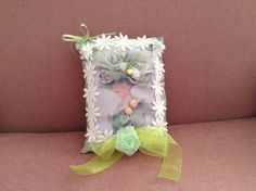 7 inch lavender scented sachet with image of by cindysvictorian