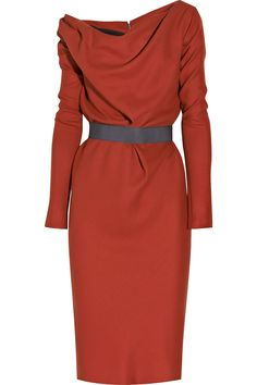 Wool - Crepe Shift Dress by Victoria Beckham #Victoria_Beckham #Dress
