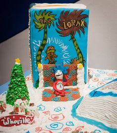 "Congratulations to Sophie Coyne for winning first place in the Youth Division in our #GingerbreadHouse competition! You can see this entry, ""Cat In The Hat & Friends"", and more during our exhibition, which runs through January 3rd.  #DrSeuss #Whoville #Lorax #fondant #gingerbread"