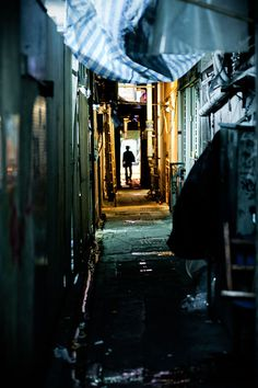 HongKong dark street by baron olivier on 500px  Again, this photo is working on the 4 points, which makes it balanced and draws your eye to the middle.