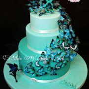 A place for people who love cake decorating. Butterfly Cakes, Butterflies, Love Cake, Tiffany, Cake Decorating, Desserts, Food, Tailgate Desserts, Deserts