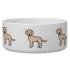 Light Yellow Labrador Retriever Pet Water Bowls #labradorretriever #lab #dog