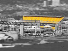 Heinz Field - Go Steelers! Pittsburgh Hotels, Pittsburgh Art, University Of Pittsburgh, Pittsburgh Steelers, Football Is Life, Steelers Football, Football Stadiums, Three Rivers Stadium, Here We Go Steelers