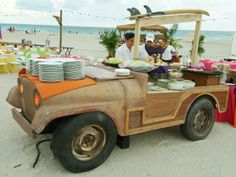 Key west themed buffet from Max King Events. Shop Lowes, Sea Party Food, Beach Jeep, Beach Meals, Steel Drum, Nautical Party, Under The Sea Party, Retirement Parties, Plant Design