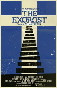 Horror Film Poster / The Exorcist poster by ~markwelser on deviantART Horror Movie Posters, Cinema Posters, Movie Poster Art, Horror Films, Minimal Movie Posters, Cool Posters, The Exorcist 1973, Exorcist Movie, Classic Horror Movies