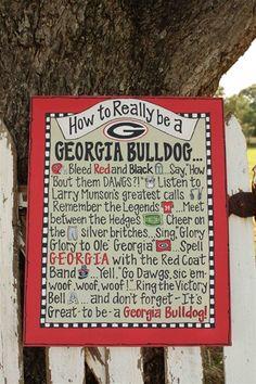 How to Really be a Georgia Bulldog