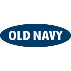 They have always had the same logo to keep it orginal. Old Navy Logo ❤ liked on Polyvore