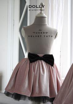 DOLLY by Le Petit Tom ® VELVET THE TUXEDO TUTU ballet pink