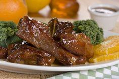 Orange Honey Pork Ribs   MrFood.com