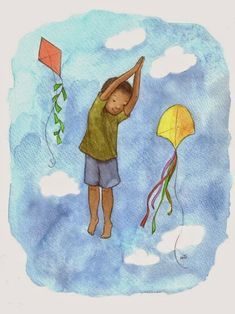 Celebrate National Kite Month this April with the Kite Yoga Pose