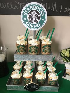 Starbucks Party Malou and her icecoffees 13th Birthday Party Ideas For Girls, Sleepover Birthday Parties, Birthday Cakes For Teens, 18th Birthday Party, Birthday Party Themes, Party Themes For Teenagers, Cake Birthday, Starbucks Birthday Party, Starbucks Wedding