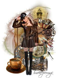 """Steampunk Beauty"" by timekeepermgc on Polyvore"