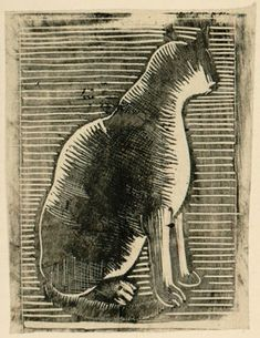 From Portfolio of Woodcuts for Bookplates (1915-20) - Dora Carrington (1893-1932)