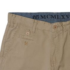 #Chino #short front detail. Available at: www.65mcmlxv.com