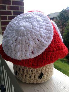 Newborn baby hat, Mario toad style!
