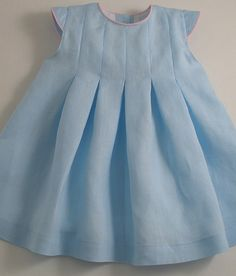 Ice Blue Linen Dress - Patricia Smith Designs