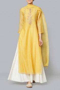 Yellow Samika Suit Shop Yellow Samika Suit from Anita Dongre Pakistani Dresses, Indian Dresses, Indian Outfits, Indian Attire, Indian Ethnic Wear, Indian Suits Punjabi, Kurta Designs, Blouse Designs, Ethnic Fashion