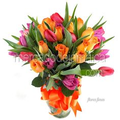 Arreglos Flor Tulipanes Rojos Love Band !| Envia Flores