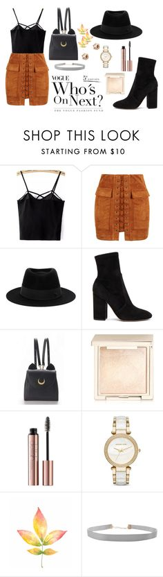 """""""fall fun"""" by jericariggs ❤ liked on Polyvore featuring WithChic, Maison Michel, Valentino, Jouer, Michael Kors, Humble Chic and River Island"""