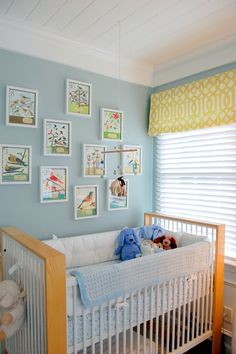 Baby Boy Nursery by anniehamnett #nursery