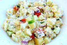 zomerse aardappelsalade met groente