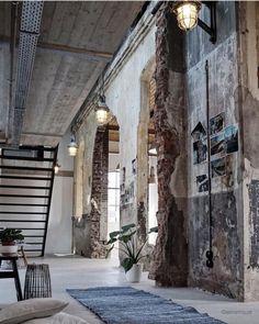 Vintage Industrial Decor, Industrial Interior Design, Urban Industrial, Industrial Bedroom, Industrial Living, Industrial Interiors, Industrial Style, Home Interior Design, Kitchen Industrial