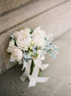 dusty miller + peonies bouquet // photo by BretCole.com