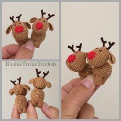 #workinprogress #rudolph #crochetchristmas #reindeer #christmasdecorations #handmade #rednose #miniature #homedecor #amigurumidoll #amigurumi #doubletrebletrinkets