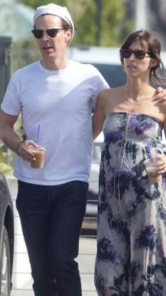 Benedict and Sophie in the California sun