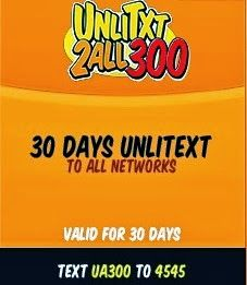 UA300 Talk N Text: 30 Days Unli Text To All Networks