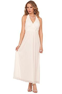 Sexy Halter V Neckline Formal Maxi Special Occasion Textured Rhinestone Dress * Learn more by visiting the image link. Note: It's an affiliate link to Amazon.