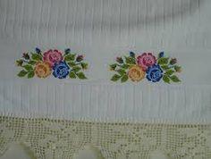 Resultado de imagem para toalhas de banhos bordadas ibitinga