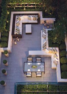 Rooftop Terrace Design, Terrace Garden, Green Terrace, Small Terrace, Rooftop Gardens, Garden Oasis, Garden Gate, Small Patio, Garden Beds