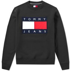 Buy the Tommy Jeans Crew Sweat in Tommy Black from leading mens fashion retailer END. - only Fast shipping on all latest Tommy Jeans products Tommy Hilfiger Outfit, Tommy Hilfiger Sweatshirt, Tommy Hilfiger Jeans, Style Skate, Trendy Hoodies, Outfits Hombre, Crew Clothing, Teenager Outfits, Mode Style