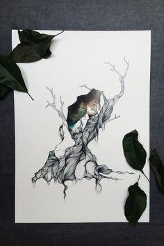 """ARBRE IIIColección """"Orgánica"""".Edición Limitada y numerada firmada por Marina Guiu.Medida A3 (42 x 29,7 cm).Para más información:espacio-store@hotmail.com"""