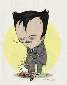 'O ex-mágico' - ilustração para o conto de Murilo Rubião
