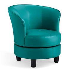 Best Draper Swivel Barrel Dark Teal Accent Chair By Comfort 640 x 480