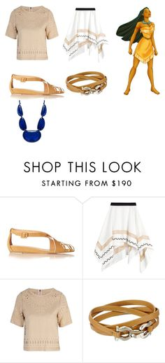 """""""Modern Pocahontas"""" by flo-wer on Polyvore featuring ALEXA WAGNER, Vionnet, Sea, New York, Salvatore Ferragamo, INC International Concepts, modern, women's clothing, women, female and woman"""