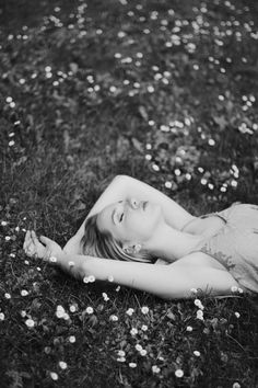 Black and white summer portrait of a girl. Flowers. Photographer in Moscow