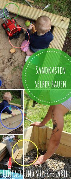 Ein Sandkasten ist für Kinder einfach perfekt und auch für einen kleinen Garten gut geeignet. Mit dieser Vorlage baust Du einen Sandkasten selbst - besonders stabil und haltbar. DIY für den Familien - Garten