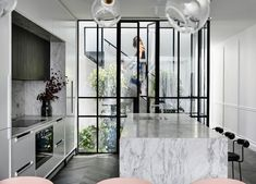 Casa Atrio by Biasol - Australian Interior Design Awards Australian Interior Design, Interior Design Awards, Residential Interior Design, Design Interiors, Interior Ideas, Cabinet D Architecture, Classical Architecture, Small Kitchen Solutions, Small Kitchen Lighting