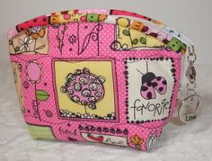 Whimsical Pink Coin Purse Quilt Zipper Pouch Wallet  by KeriQuilts, $10.00