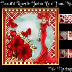 Beautiful Amaryllis Fashion Card Front Kit on Craftsuprint - View Now!