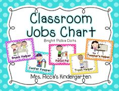 Mrs. Ricca's Kindergarten: Classroom Management   Good idea for chore chart...with magnets