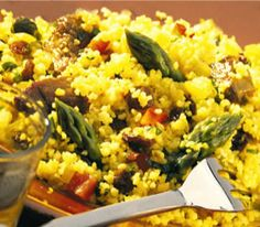 Fragrant asparagus and lamb cous-cous